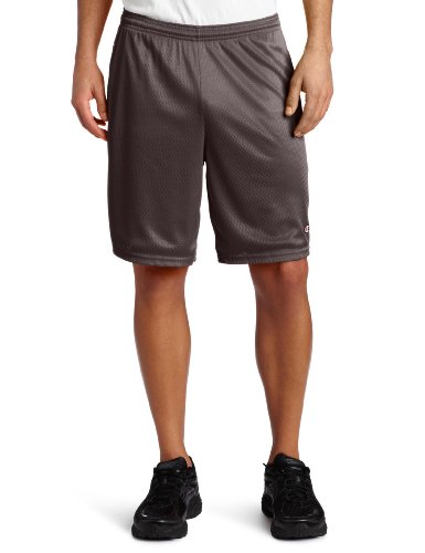 Champion Men's Long Mesh Short With Pockets,Granite Heather,LARGE