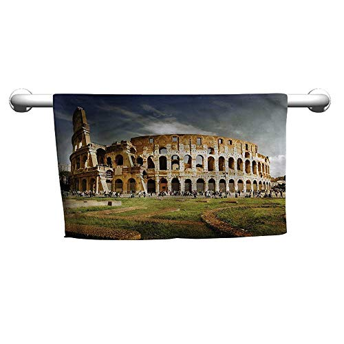 flybeek Baby Bath Towel The Colosseum,Monument Ruins,Hooded Towel for Kids Large