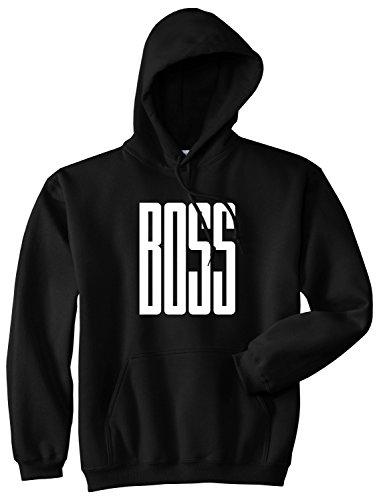 Kings Of NY BOSS Long Printed Pullover Hoody Large Black