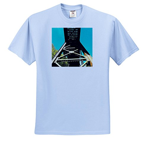 Price comparison product image 3dRose Dylan SEIBOLD - Photography - Train trestle - T-Shirts - Youth Light-Blue-T-Shirt XS(2-4) (TS_269716_59)