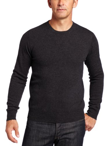 n's 100% Cashmere  Long Sleeve Crew Neck Sweater, Charcoal, XX-Large ()