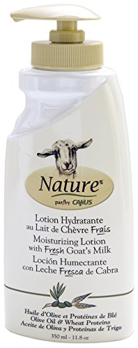 - Nature by Canus Creamy Body Lotion with Fresh Canadian Goat Milk, Olive Oil & Wheat Proteins, 11.8 Fluid Ounce