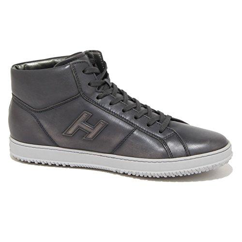 90225 sneaker HOGAN H 168 MID CUT H RILIEVO scarpa uomo shoes men Grigio