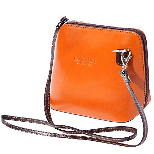 Womens Mini Leather Tan (JAENIS NICHOLE-Crossbody Bags for Women, Polished Dome Shoulder Bags, Small Purse in Italian Leather-Dalida (Small, Tan-Brown))