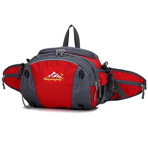 Bolsa de deporte/Bolsillos de ocio al aire libre/Los bolsillos de seguridad resistente al agua capacidad-azul rojo