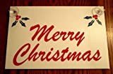 VINBOX MERRY CHRISTMAS Plastic Coroplast Window SIGN 8'',x12'', w/Suction Cups