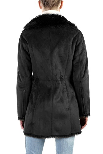 BGSD Women's Zara Asymmetrical Zip Front Faux Shearling Walking Coat