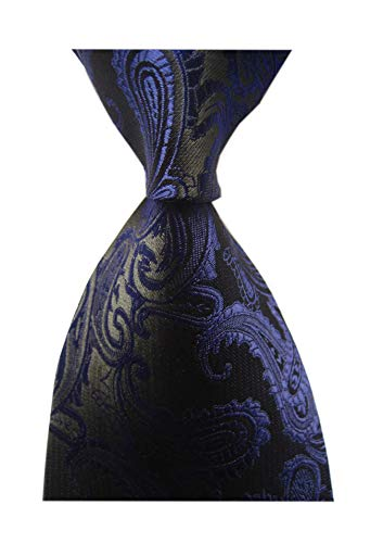 Black / Paisley Purple - Men's Purple Black Party Cravat Suit Ties Self Neckties Birthday Gift for Guys