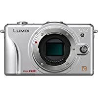 Panasonic Lumix DMC-GF2 Digital Micro Four Thirds Camera Body (Silver) (International Model No Warranty)
