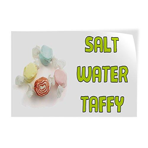 (Salt Water Taffy #1 Indoor Store Sign Vinyl Decal Sticker - 9.25inx24in,)