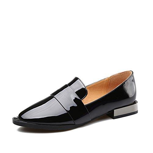 Primavera baja zapatos de cuero/Zapatos puntiagudos de la señora/Zapatos ocasionales de Inglaterra A