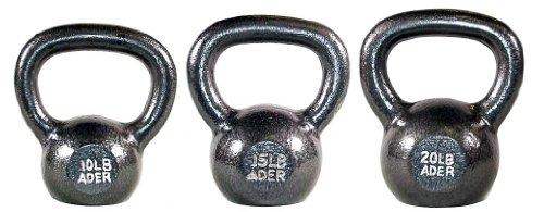 Ader Premier Kettlebell Set- (10, 15, 20 lb)