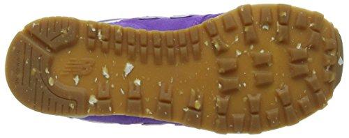 New Balance 574 Leather Mesh, Zapatillas Para Niñas Morado (Purple)