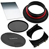 Fotodiox WonderPana 66 Essentials 0.6SE Kit-System Holder, Lens Cap, 6.5-Inch x 8-Inch 0.6 (2-Stop) Soft Edge Graduated Neutral Density Filter and 145mm Circular Polarizer (CPL) Filter for the Nikon 14-24mm f/2.8G ED AF-S Nikkor Wide Angle Zoom Lens