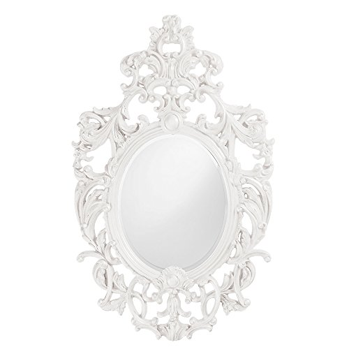 Howard Elliott 2146W Dorsiere Oval Mirror, Glossy White