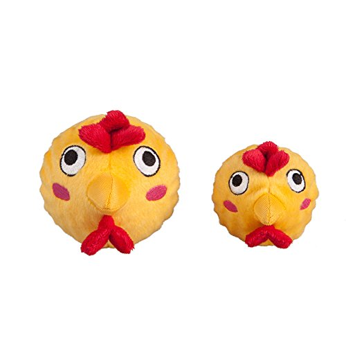 Pictures of fabdog Chicken faball Squeaky Dog Toy (Small) FAB090 1