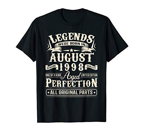 August 1998 21st Birthday Gift 21 Year Old Men Women T-Shirt