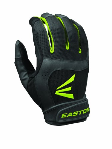 (Easton Women's Stealth Core Batting Gloves (Small, Black/Optic))