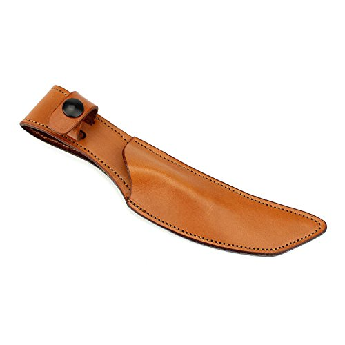 (Tan Leather Knife Sheath Designed for Our Japanese Tanto Knife - ONE SHEATH ONLY! KNIVES SOLD SEPARATELY!)
