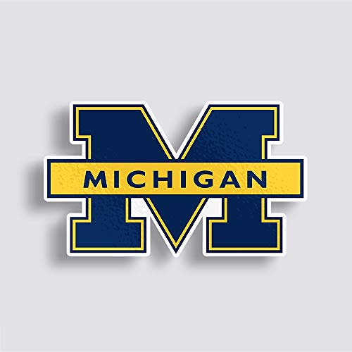 University of Michigan Helmet Stickers Logo Wolverines Decal Vinyl - Wolverines Michigan Decal