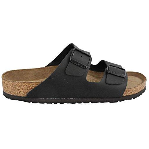 Birkenstock Unisex Arizona Black Birko-flor? Sandals - 10-10.5 B(M) US Women/8-8.5 D(M) US ()