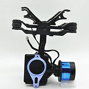 ZJchao Brushless Camera Mount Gimbal with Gyro 2 Axis FPV PTZ for Gopro 3