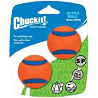 "Chuckit! Ultra Ball, Small, 2"", 2 Pack, Orange/Blue"