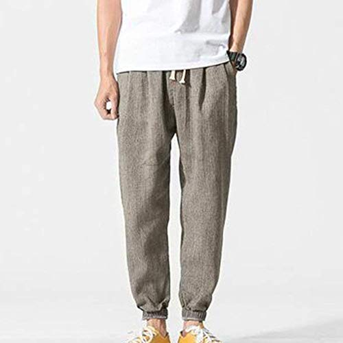 Vrac Sur 4 Le D'été Avec En Côté Hommes 3 Confortable Poches Survêtement Casual Pour Harem Pantalon Vêtements De Lin a7TBTX