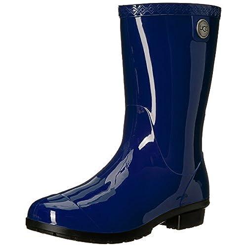 UGG Women's Sienna Rain Boot, Blue Jay, 10 B US