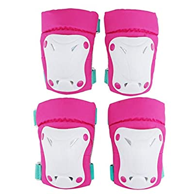 No-branded Protective Gear Sets Outdoor Sports Protective Gear Set Boys Girls Cycling Safety Pads Set and Wrist Guards for Skateboard Bicycle ZRZZUS (Color : Pink, Size : M): Home & Kitchen