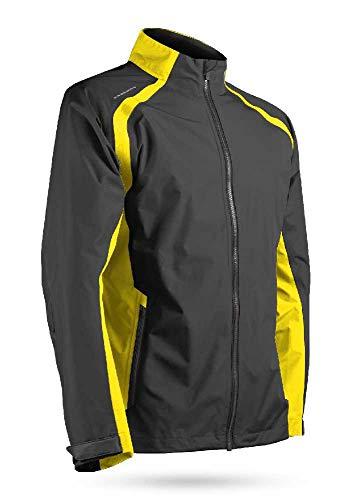 Sun Mountain 2019 Men's Cumulus Golf Jacket Steel-Yellow X-Large ()