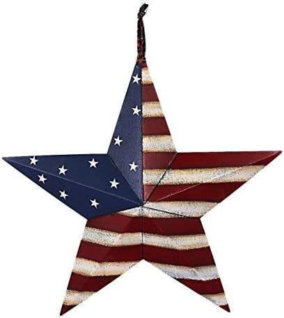 22 July 4th Americana Patriotic Wall Decor American Flag Barn Metal 3D Star Style 1