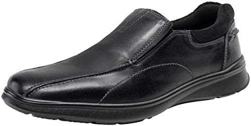 JOUSEN Men's Loafers Casual Slip On Shoes Lightweight Leather Shoes (11,Black)