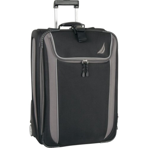 Nautica Luggage Spinnaker 28 Inch Expandable Upright Bag, Black/Grey, One Size, Bags Central