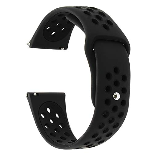 Jewh 22mm Double Color Silicone Rubber Watchband for Samsung Gear S3 - Samsung Wrist Strap -