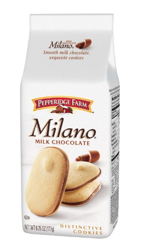 Pepperidge Farm Milk Chocolate Milano Cookies, 6.25-Ounce (Pack of 4)
