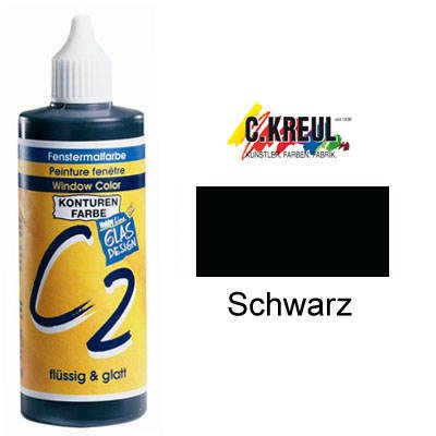 C2 Window-Color-Konturenfarbe 125ml, Schwarz [Spielzeug]