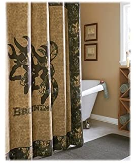 High Quality Browning 09080210000BRNB 3D Buckmark Collection Shower Curtain
