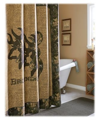 Browning 09080210000BRNB 3D Buckmark Collection Shower Curtain