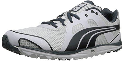 PUMA Men's Faas Lite Mesh 2.0 Golf Shoe,White/Turbulence,10.5 M US