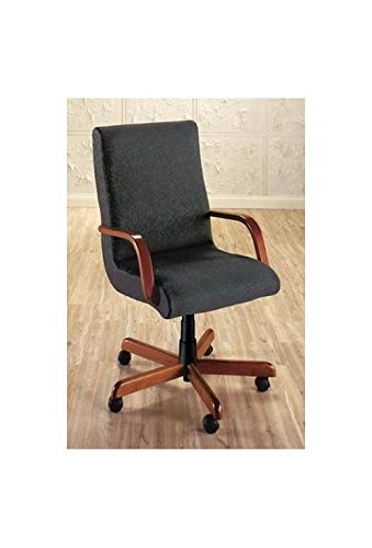 - Scoop Executive Swivel Chair w Wood Arms (752-Merlot Fabric)