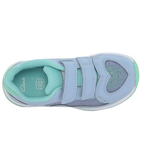 Clarks  Piper Chat Inf, Chaussures de trail pour fille bleu bleu