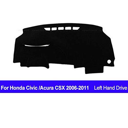 AUCD Car Dashboard Cover Dash Mat Dash Board Pad Carpet Dashmat Anti-UV for Honda Civic Acura CSX 2006 2007 2008 2009 2010 2011