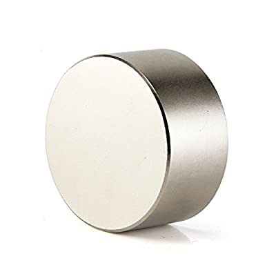 "SUNKEE Round 40x20mm / 1.57""x0.79"" N48 Rare Earth strong magnet , 1 4/7"" Diameter 4/5"" Thickness Disc Neodymium Magnet"
