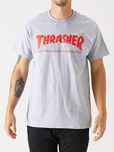 5f22f732344b Thrasher Men's Skateboard Magazine Logo T-Shirt,Grey,XX-Large