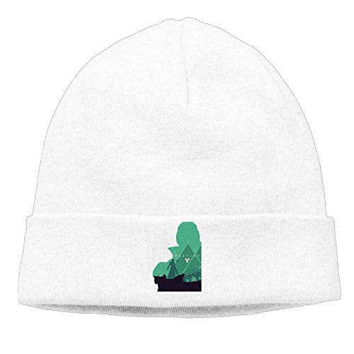 DETO Men's&Women's Warlock Logo Patch Beanie SkiingWhite Caps (Nike Shoes Blake Griffin)