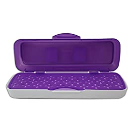 Wilton Decorate Smart Tool Organizer Case 1 Hard plastic case with two compartments for storing and transporting your essential decorating tools Perfect for icing spatulas, brushes, cutters, and more! Hinged center divider keeps clean tools clean, and dirty tools in their own section