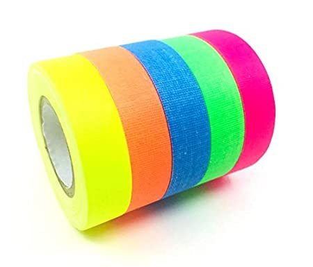 Gaffer Power Spike Tape - Premium Grid and Line Striping Adhesive Tape | Dry Erase Tape for Whiteboard | Art Tape| Pinstripe Tape for Floors, Stages, Sets, Metal | 5 Colors - ½ inch by 20 Yards Each Webgage Commerce Inc. 4336846585