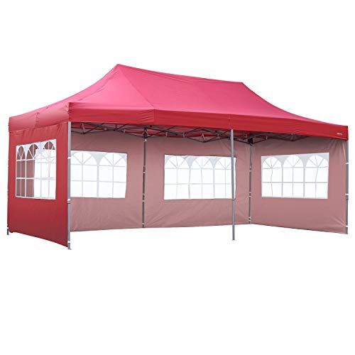 Outdoor Basic 10×20 Ft Wedding Party Canopy Tent Pop up Instant Gazebo with Removable Sidew ...