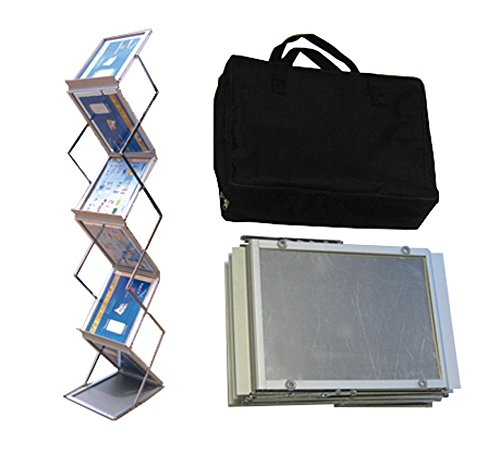 - Tektrum Portable Foldable Metal Literature Rack Display Holder Stand w/Carry Bag, Pop-up Magazine Brochure Catelog Rack, Light Weight, for Trade Show Booth Office Retail Store Showroom (6 Pockets)